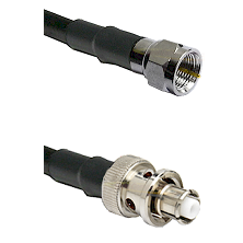 F Male Connector On LMR-240UF UltraFlex To SHV Plug Connector Cable Assembly