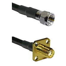 F Male Connector On LMR-240UF UltraFlex To SMA 4 Hole Female Connector Cable Assembly