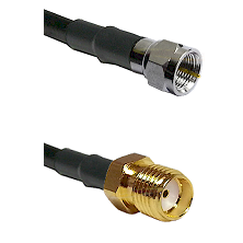 F Male Connector On LMR-240UF UltraFlex To SMA Female Connector Cable Assembly