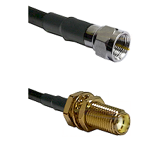 F Male Connector On LMR-240UF UltraFlex To SMA Female Bulkhead Connector Cable Assembly