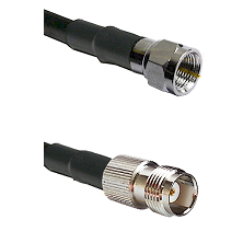 F Male Connector On LMR-240UF UltraFlex To TNC Female Connector Cable Assembly