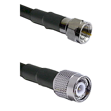 F Male Connector On LMR-240UF UltraFlex To TNC Male Connector Cable Assembly