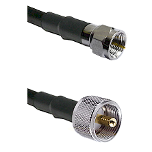F Male Connector On LMR-240UF UltraFlex To UHF Male Connector Cable Assembly