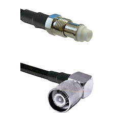 FME Female Connector On LMR-240UF UltraFlex To SC Right Angle Male Connector Cable Assembly