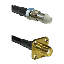 FME Female Connector On LMR-240UF UltraFlex To SMA 4 Hole Female Connector Cable Assembly