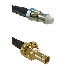 FME Female on RG142 to 10/23 Female Bulkhead Cable Assembly