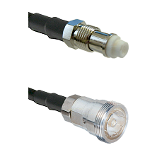 FME Female on RG142 to 7/16 Din Female Cable Assembly
