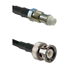 FME Female on RG142 to BNC Male Coaxial Cable Assembly