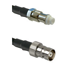 FME Female on RG142 to C Female Cable Assembly