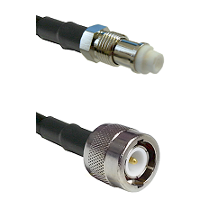 FME Female on RG142 to C Male Cable Assembly