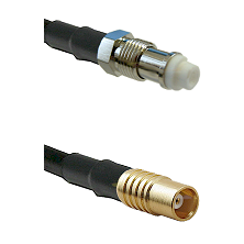 FME Female on RG142 to MCX Female Cable Assembly