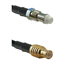 FME Female on RG142 to MCX Male Cable Assembly