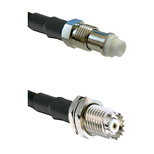 FME Female on RG142 to Mini-UHF Female Cable Assembly