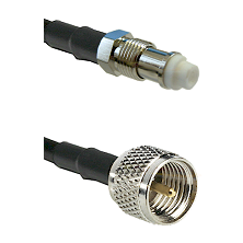 FME Female on RG142 to Mini-UHF Male Cable Assembly