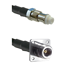 FME Female on RG142 to N 4 Hole Female Cable Assembly