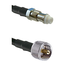 FME Female on RG400 to UHF Male Cable Assembly