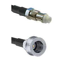 FME Female on RG58C/U to QN Male Cable Assembly