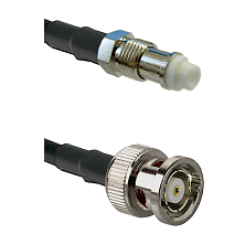 FME Female on RG58C/U to BNC Reverse Polarity Male Cable Assembly