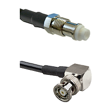 FME Female on RG58C/U to BNC Reverse Polarity Right Angle Male Cable Assembly