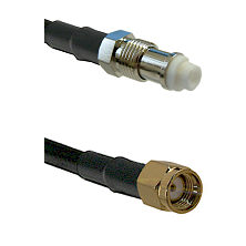FME Female on RG58C/U to SMA Reverse Polarity Male Cable Assembly
