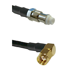 FME Female on RG58C/U to SMA Reverse Polarity Right Angle Male Cable Assembly