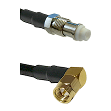 FME Female on RG58C/U to SMA Right Angle Male Cable Assembly