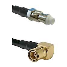 FME Female on RG58C/U to SMB Right Angle Female Cable Assembly