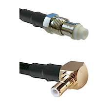FME Female on RG58C/U to SMB Right Angle Male Cable Assembly