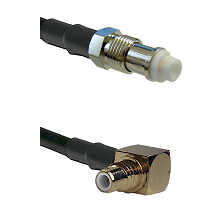 FME Female on RG58C/U to SMC Right Angle Male Cable Assembly
