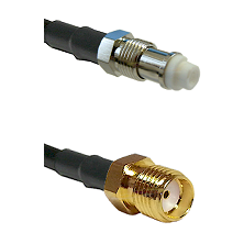 FME Female on RG58C/U to SMA Reverse Thread Female Cable Assembly