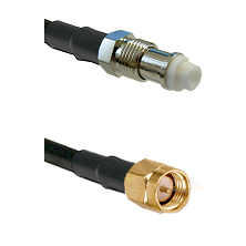 FME Female on RG58C/U to SMA Reverse Thread Male Cable Assembly