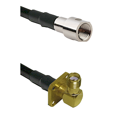 FME Male on LMR-195-UF UltraFlex to SMA 4 Hole Right Angle Female Cable Assembly
