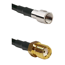 FME Male on LMR-195-UF UltraFlex to SMA Reverse Thread Female Cable Assembly