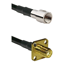 FME Male on LMR-195-UF UltraFlex to SMA 4 Hole Female Cable Assembly