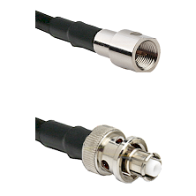 FME Male Connector On LMR-240UF UltraFlex To SHV Plug Connector Cable Assembly