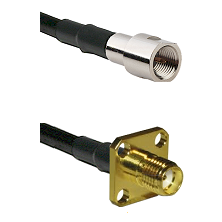 FME Male Connector On LMR-240UF UltraFlex To SMA 4 Hole Female Connector Cable Assembly