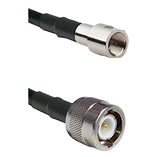 FME Male on RG142 to C Male Cable Assembly
