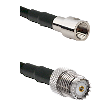 FME Male on RG142 to Mini-UHF Female Cable Assembly