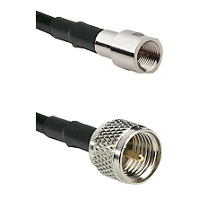 FME Male on RG142 to Mini-UHF Male Cable Assembly