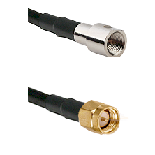 FME Male on RG400 to SMA Reverse Thread Male Cable Assembly