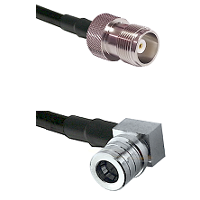 HN Female Connector On LMR-240UF UltraFlex To QMA Right Angle Male Connector Cable Assembly