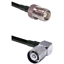 HN Female Connector On LMR-240UF UltraFlex To SC Right Angle Male Connector Cable Assembly