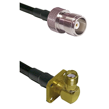 HN Female Connector On LMR-240UF UltraFlex To SMA 4 Hole Right Angle Female Connector Coaxial Cable