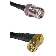 HN Female Connector On LMR-240UF UltraFlex To SMA Right Angle Male Connector Cable Assembly