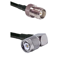 HN Female Connector On LMR-240UF UltraFlex To TNC Right Angle Male Connector Cable Assembly