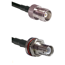 HN Female Connector On LMR-240UF UltraFlex To SHV Bulkhead Jack Connector Cable Assembly