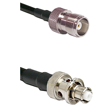 HN Female Connector On LMR-240UF UltraFlex To SHV Plug Connector Cable Assembly