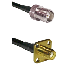 HN Female Connector On LMR-240UF UltraFlex To SMA 4 Hole Female Connector Cable Assembly