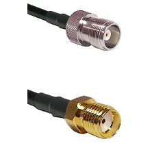 HN Female Connector On LMR-240UF UltraFlex To SMA Female Connector Cable Assembly
