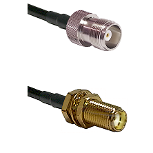 HN Female Connector On LMR-240UF UltraFlex To SMA Female Bulkhead Connector Cable Assembly